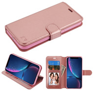 Element Series Book-Style Leather Folio Case for iPhone XR - Rose Gold
