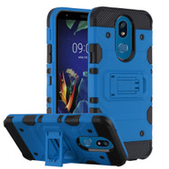 *Sale* Military Grade Certified Storm Tank Hybrid Armor Case with Stand for LG K40 - Blue
