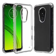 *Sale* TUFF Klarity Transparent Anti-Shock TPU Case for Motorola Moto G7 Power / G7 Supra - Silver