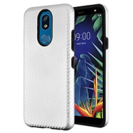 Carbon Fiber Hybrid Case for LG K40 - Silver