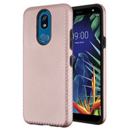 Carbon Fiber Hybrid Case for LG K40 - Rose Gold
