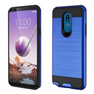 Brushed Coated Hybrid Armor Case for LG Stylo 5 - Blue