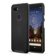 *Sale* Haptic Football Textured Anti-Slip Hybrid Armor Case for Google Pixel 3a XL - Black