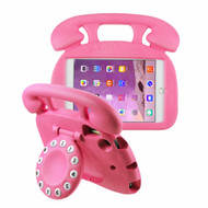 Telephone Kids Friendly Drop Resistant Case with Handle and Stand for iPad Mini - Hot Pink