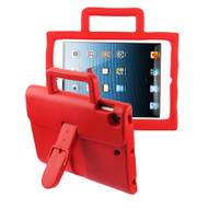 Briefcase Kids Friendly Drop Resistant Case with Handle & Stand for iPad (2018/2017) / iPad Pro 9.7 / iPad Air 2 - Red