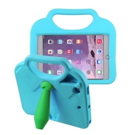 Kids Friendly Drop Resistant Case with Handle and Stand for iPad Mini - Tie Blue