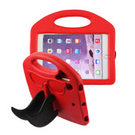 Mustache Kids Friendly Drop Resistant Case with Handle and Stand for iPad Mini - Red