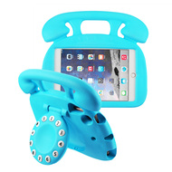 Telephone Kids Friendly Drop Resistant Case with Handle and Stand for iPad Mini - Blue