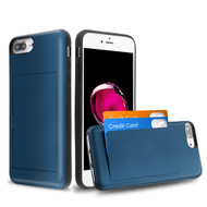 Stash Credit Card Hybrid Armor Case for iPhone 8 Plus / 7 Plus / 6S Plus / 6 Plus - Navy Blue