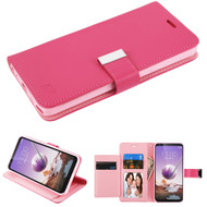 *Sale* Xtra Series Essential Leather Wallet Stand Case for LG Stylo 5 - Hot Pink