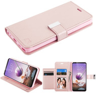 *Sale* Xtra Series Essential Leather Wallet Stand Case for LG Stylo 5 - Rose Gold