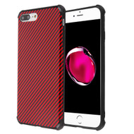 Covert Slim Armor Case for iPhone 8 Plus / 7 Plus / 6S Plus / 6 Plus - Carbon Fiber Red