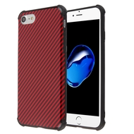 Covert Slim Armor Case for iPhone 8 / 7 / 6S / 6 - Carbon Fiber Red