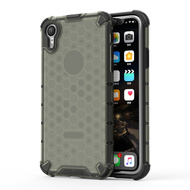 Honeycomb Transparent Case for iPhone XR - Black