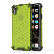 Honeycomb Transparent Case for iPhone XR - Green