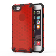 Honeycomb Transparent Case for iPhone 8 / 7 - Red