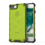 Honeycomb Transparent Case for iPhone 8 Plus / 7 Plus - Green
