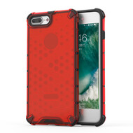 Honeycomb Transparent Case for iPhone 8 Plus / 7 Plus - Red