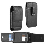 Xtra Series Premium Vertical Leather Pouch Case - Black 69413
