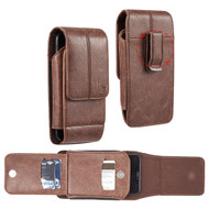 Xtra Series Premium Vertical Leather Pouch Case - Brown 69420
