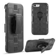 Armor Ring Hybrid Case and Holster Belt Clip for iPhone 8 / 7 / 6S / 6 - Black