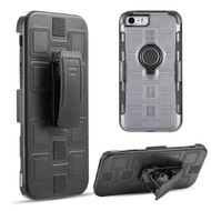 *Sale* Armor Ring Hybrid Case and Holster Belt Clip for iPhone 8 / 7 / 6S / 6 - Grey