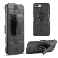 Armor Ring Hybrid Case and Holster Belt Clip for iPhone 8 Plus / 7 Plus / 6S Plus / 6 Plus - Black
