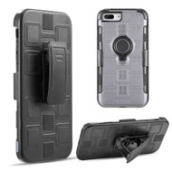 Armor Ring Hybrid Case and Holster Belt Clip for iPhone 8 Plus / 7 Plus / 6S Plus / 6 Plus - Grey
