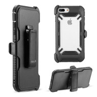 Ultra Rugged Hybrid Case and Holster Belt Clip for iPhone 8 Plus / 7 Plus / 6S Plus / 6 Plus - Black
