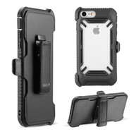 Ultra Rugged Hybrid Case and Holster Belt Clip for iPhone 8 / 7 / 6S / 6 - Black