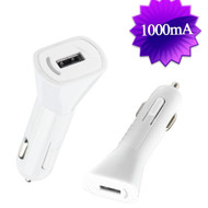 1Amp USB Car Charger - White