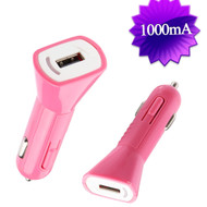 1Amp USB Car Charger - Pink