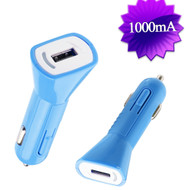 1Amp USB Car Charger - Blue