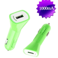 1Amp USB Car Charger - Green