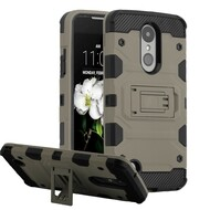 Military Grade Certified Storm Tank Hybrid Case for LG Aristo 3 / Aristo 2 Plus / Fortune 2 / Tribute Empire - Grey