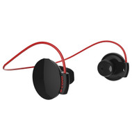 Bluetooth V4.0 Wireless Sporty Headphones - Black Red