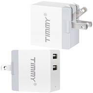 Dual USB Travel AC Wall Smart Charger Power Adapter - White