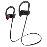 IPX7 Water Resistant HD Stereo Bluetooth V4.1 Wireless Sport Earphones with Microphone - Black