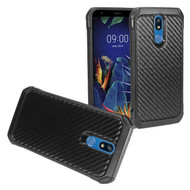 *Sale* Tough Anti-Shock Hybrid Case for LG K40 - Carbon Fiber