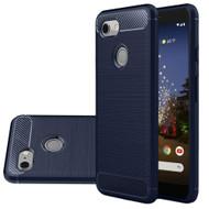 *Sale* Brushed Metal Design Rugged Armor Case for Google Pixel 3a XL - Navy Blue