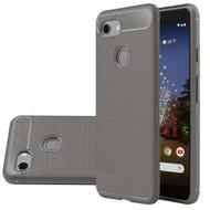 *Sale* Brushed Metal Design Rugged Armor Case for Google Pixel 3a XL - Grey