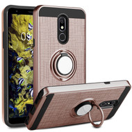*SALE* Sports Hybrid Armor Case with Smart Loop Ring Holder for LG Stylo 5 - Rose Gold