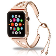 Stainless Steel Open Cuff Bangle Watch Band for Apple Watch 44mm / 42mm - Rose Gold