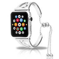Stainless Steel Open Cuff Bangle Watch Band for Apple Watch 44mm / 42mm - Silver
