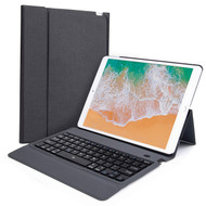 Slim Leather Folio Kickstand Case with Bluetooth Wireless Keyboard for iPad Air 3 / iPad Pro 10.5 inch - Black