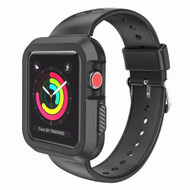 Rugged Sport Silicone Case with Band for Apple Watch 40mm Series 4 - Black