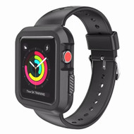 Rugged Sport Silicone Case with Band for Apple Watch 42mm - Black