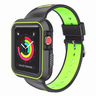Rugged Sport Silicone Case with Band for Apple Watch 44mm Series 4 - Black Volt