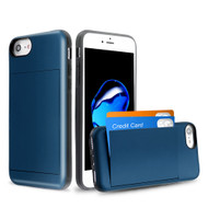 Stash Credit Card Hybrid Armor Case for iPhone 8 / 7 / 6S / 6 - Navy Blue