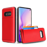 *Sale* Stash Credit Card Hybrid Armor Case for Samsung Galaxy S10e - Red